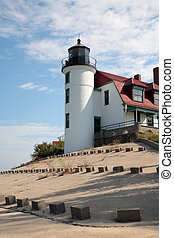 Michigan Lighthouse - Point Betsie Lighthouse Tower, Lake...
