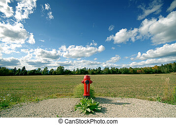 Fire Hydrant - fire hydrant in a field