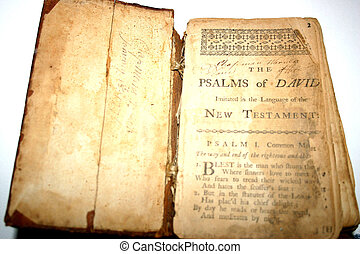 Open Book - 400 year old bible