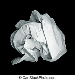 Paper ball - Isolated ball of paper with clipping path