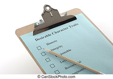 clipboard 1 - clipboard with checklist and pencil isolated...