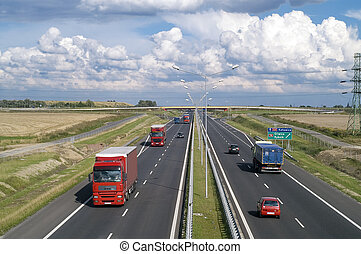 High way - HIghway in poland Crakow-Breslau