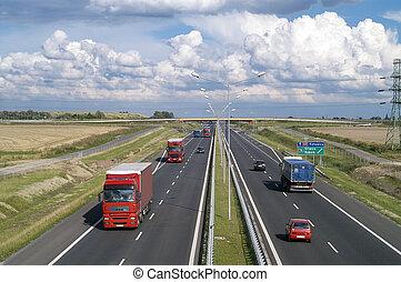 High way - HIghway in poland Crakow-Breslau