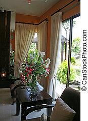 Living room, modern asian design