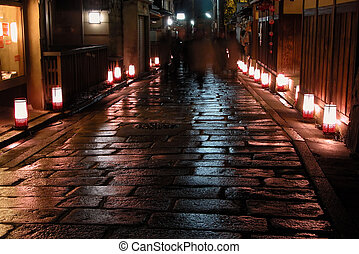 Night illumination - Beautiful aspect from a spring Japanese...