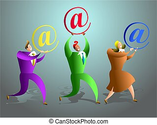 email team - the happy email support team - business concept...