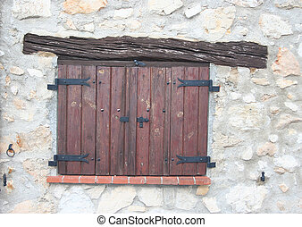 shuttered windows - painted shuttered windows Provence...