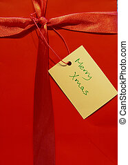 Christmas Gift - Red Gift Bag