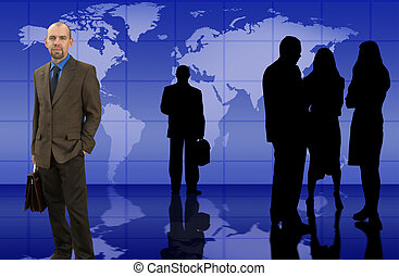 Business team - Businessman with his groupmade from my...