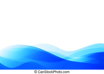abstract background - blue waves(with space for your text)