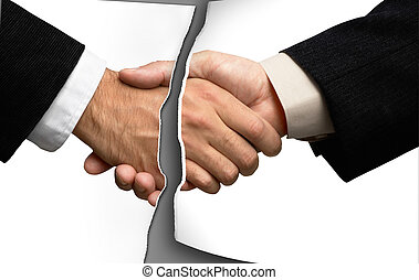 Two businessmen shaking hands breakgreat for any design -...