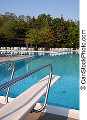 Pool with Diving Board