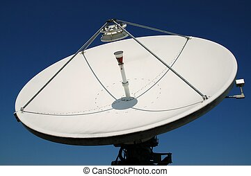 satellite dish - a large uplink and downlink television...
