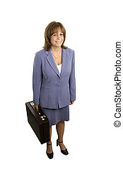 Businesswoman Smile - A full body view of a smiling business...