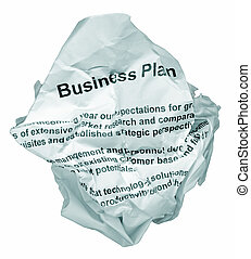 Business plan reject - Thrown away business plan with...