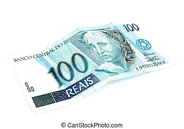 One Hundred Real - One Hundred Brazilian Real money