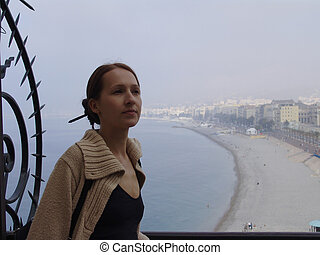 nice france the mediterranean sea view
