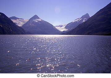 Turnagain Arm - The beautiful blue waters of Turnagain Arm,...