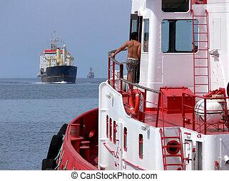 At Sea - Ships at sea