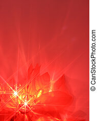 christmas lights - abstract twinkiling poinsettia christmas...