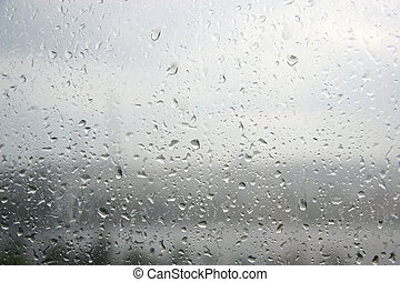 Texture- rain drops at a window glass