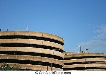 Parking Deck 2 - Circular Parking deck at airport