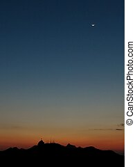 Sunset in Rio de Janeiro - 1 - Corcovado and the statue of...