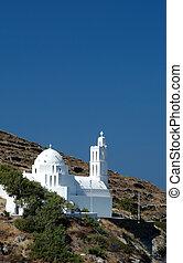 greek church - greek island church on mountain
