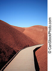 Walkway through the Painted Hills