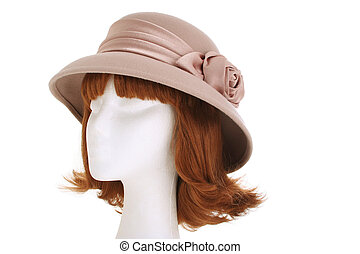 Ladies hat - A 1940s style ladies hat on a manequin head...
