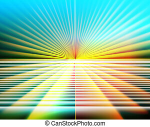 Abstract Illustration Yellow-Blue Perspective