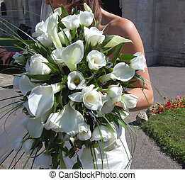 Bridal Bouquet - Wedding bride showing lovely bridal bouquet