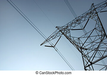 Electrical Tower Ang - High-tension electrical tower backlit...