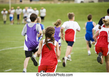 Stock Photo of a Cross Country Race