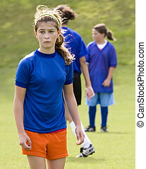 Stock Photo of a Female Soccer Player - Photo of a female...