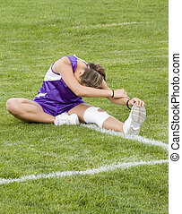 Stock Photo of a Cross Country Runner Stretching - Photo of...
