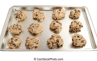cookie dough ready for baking