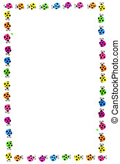 ladybug borders - colorful ladybug border and frame