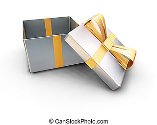 Gift box - 3D render of an open gift box