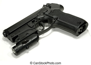 Gun - Photo of Pellet Gun With a Laser Sight