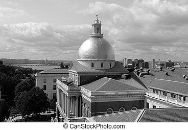 Massachusetts  State House in Boston on Beacon Street