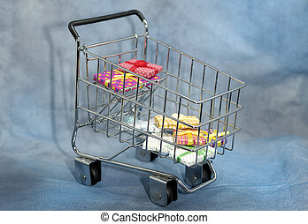 Shopping Cart - Photo of a Shopping Cart With Gift Boxes
