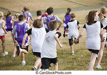 Two Cross Country Teams in a Big Race