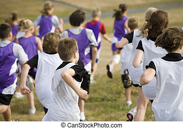 Cross Country Team Runners - Photo of two teams of cross...