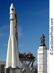 Spacecraft - The legendary Russian space ship Vostok. Museum...