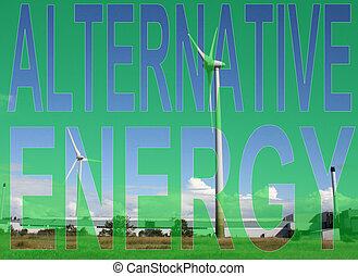 Alternative energy wind farm Industrial wind farm