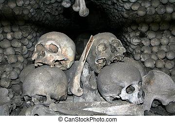 Human skulls and bones 2 - Bones of victims of black death