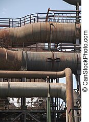 rusty pipes from old blast furnace 06 - details from an old...