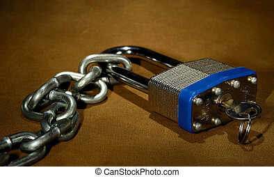 Security - Photo of a Lock and Chain - Security Concept