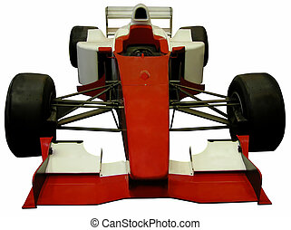 Formula one car isolated over white background